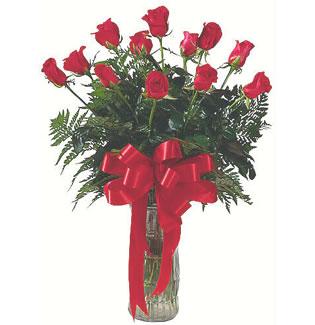 12 adet gül cam içerisinde  Sakarya çiçek yolla