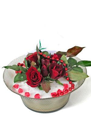 Sakarya çiçek yolla , çiçek gönder , çiçekçi   EN ÇOK Sevenlere 7 adet kirmizi gül mika yada cam tanzim