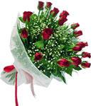 Sakarya güvenli kaliteli hızlı çiçek  11 adet kirmizi gül buketi sade ve hos sevenler