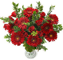 5 adet kirmizi gül 5 adet gerbera aranjmani  Sakarya çiçek servisi , çiçekçi adresleri