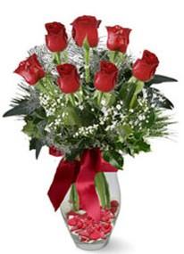 Sakarya online çiçekçi , çiçek siparişi  7 adet kirmizi gül cam vazo yada mika vazoda