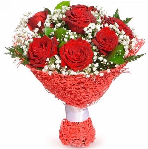 7 adet kırmızı gül buketi  Sakarya yurtiçi ve yurtdışı çiçek siparişi