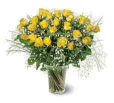 Sakarya kaliteli taze ve ucuz çiçekler  15 adet sarigül mika yada cam vazoda