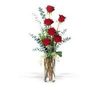 Sakarya çiçek servisi , çiçekçi adresleri  cam yada mika vazoda 6 adet kirmizigül
