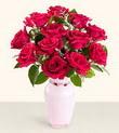 Sakarya çiçek servisi , çiçekçi adresleri  10 kirmizi gül cam yada mika vazo tanzim