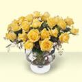 Sakarya 14 şubat sevgililer günü çiçek  11 adet sari gül cam yada mika vazo içinde