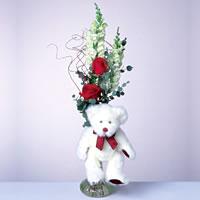 2 adet gül ve panda özel  Sakarya çiçek mağazası , çiçekçi adresleri