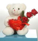 3 adetgül ve oyuncak   Sakarya internetten çiçek siparişi