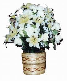 yapay karisik çiçek sepeti   Sakarya çiçekçi mağazası