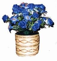 yapay mavi çiçek sepeti  Sakarya çiçek yolla