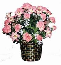 yapay karisik çiçek sepeti  Sakarya ucuz çiçek gönder