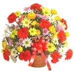 karisik renkli çiçek sepet   Sakarya cicek , cicekci