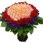 71 adet renkli gül buketi   Sakarya çiçek online çiçek siparişi