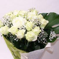 Sakarya çiçek servisi , çiçekçi adresleri  11 adet sade beyaz gül buketi