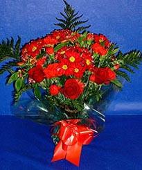 Sakarya çiçek servisi , çiçekçi adresleri  3 adet kirmizi gül ve kir çiçekleri buketi