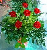6 adet kirmizi gül buketi   Sakarya İnternetten çiçek siparişi