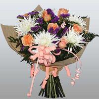 güller ve kir çiçekleri demeti   Sakarya yurtiçi ve yurtdışı çiçek siparişi