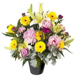 karisik mevsim çiçeklerinden vazo tanzimi  Sakarya çiçek gönderme