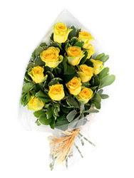 Sakarya internetten çiçek satışı  12 li sari gül buketi.