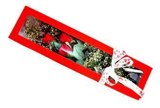Sakarya çiçek servisi , çiçekçi adresleri  Kutuda 3 adet gül