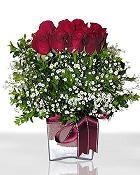 Sakarya hediye sevgilime hediye çiçek  11 adet gül mika yada cam - anneler günü seçimi -