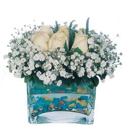 Sakarya çiçek mağazası , çiçekçi adresleri  mika yada cam içerisinde 7 adet beyaz gül