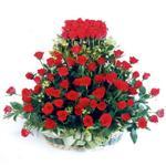 Sakarya çiçek siparişi sitesi  41 adet kirmizi gülden sepet tanzimi