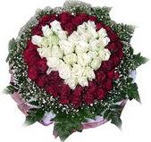 Sakarya çiçekçi mağazası  27 adet kirmizi ve beyaz gül sepet içinde