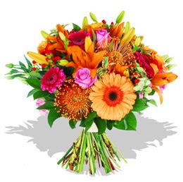 Sakarya 14 şubat sevgililer günü çiçek  Karisik kir çiçeklerinden görsel demet
