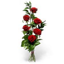 Sakarya çiçek gönderme  mika yada cam vazoda 6 adet essiz gül