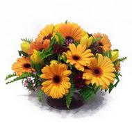 gerbera ve kir çiçek masa aranjmani  Sakarya çiçek yolla , çiçek gönder , çiçekçi
