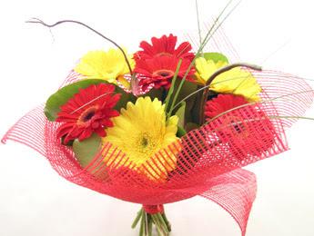 9 adet gerbera çiçeklerinden buket  Sakarya anneler günü çiçek yolla
