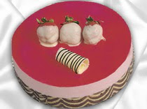 pasta siparisi 4 ile 6 kisilik yas pasta çilekli yaspasta  Sakarya hediye çiçek yolla