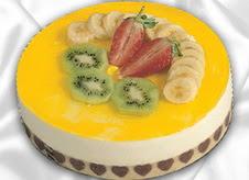 pasta gönderme 4 ile 6 kisilik yas pasta muzlu yaspasta  Sakarya çiçekçi mağazası