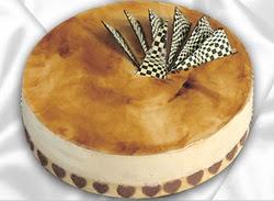 taze pasta 4 ile 6 kisilik yas pasta karamelli yaspasta  Sakarya yurtiçi ve yurtdışı çiçek siparişi