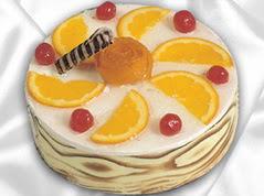 lezzetli pasta satisi 4 ile 6 kisilik yas pasta portakalli pasta  Sakarya çiçek mağazası , çiçekçi adresleri