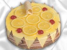 taze pastaci 4 ile 6 kisilik yas pasta limonlu yaspasta  Sakarya İnternetten çiçek siparişi