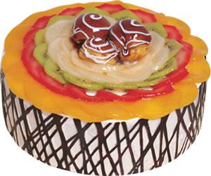 pasta siparisi 4 ile 6 kisilik meyvali yas pasta  Sakarya anneler günü çiçek yolla