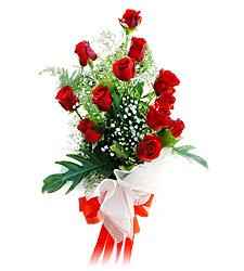 11 adet kirmizi güllerden görsel sölen buket  Sakarya çiçek yolla , çiçek gönder , çiçekçi