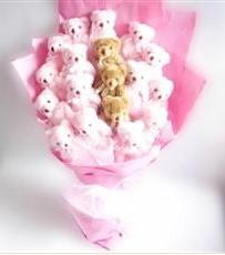 17 adet pelus ayicik buketi  Sakarya online çiçek gönderme sipariş