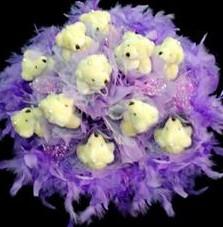 11 adet pelus ayicik buketi  Sakarya hediye sevgilime hediye çiçek