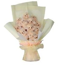 11 adet pelus ayicik buketi  Sakarya çiçek online çiçek siparişi