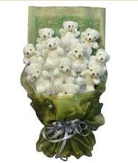 11 adet pelus ayicik buketi  Sakarya İnternetten çiçek siparişi