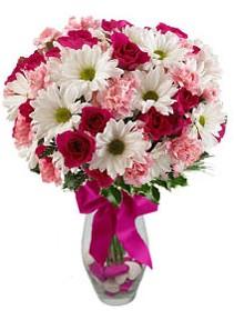 Sakarya kaliteli taze ve ucuz çiçekler  Karisik mevsim kir çiçegi vazosu
