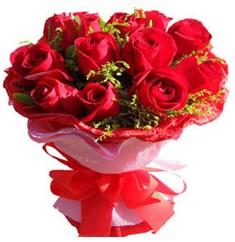 9 adet kirmizi güllerden kipkirmizi buket  Sakarya yurtiçi ve yurtdışı çiçek siparişi