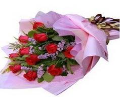 11 adet kirmizi güllerden görsel buket  Sakarya cicek , cicekci