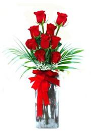 Sakarya 14 şubat sevgililer günü çiçek  9 adet mika yada cam vazoda gül tanzimi