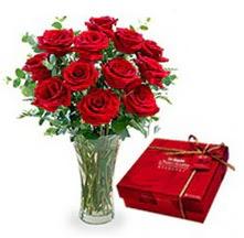 Sakarya çiçek mağazası , çiçekçi adresleri  10 adet cam yada mika vazoda gül çikolata