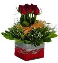 Sakarya uluslararası çiçek gönderme  7 adet mika yada cam vazoda gül tanzimi