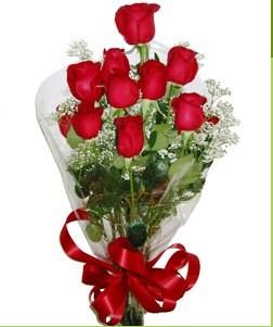Sakarya çiçek gönderme  10 adet kırmızı gülden görsel buket